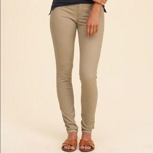 Hollister tan skinny jeans